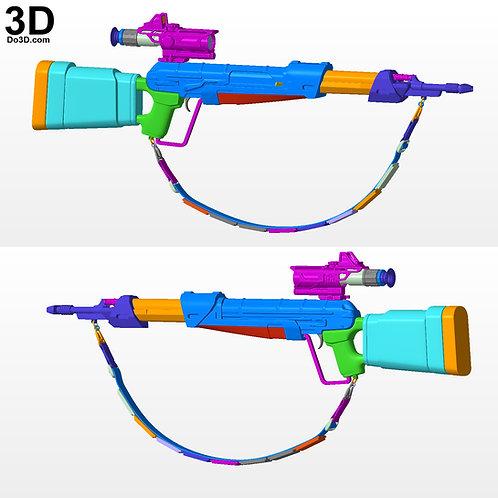 Fennec Shand Rifle Blaster from Mandalorian | 3D Printable Model #FS72