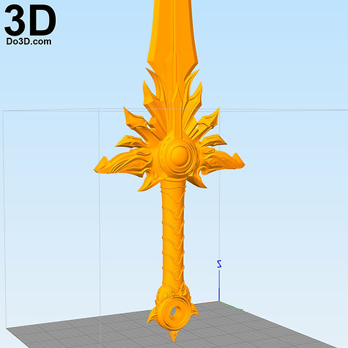 Tyrael Diablo El Druin Sword | 3D Printable Model #2197