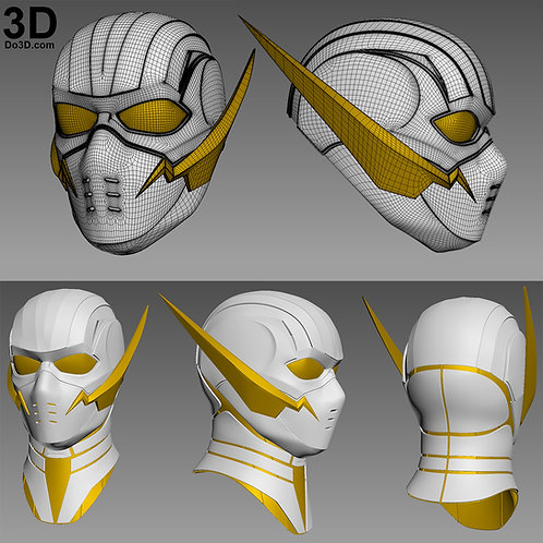 GodSpeed Justice League CONCEPT Helmet Cowl | 3D Model Project #1268