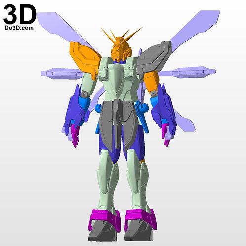 HGUC #110 HGFC GF13-017NJII Burning / God Gundam | 3D Model Project #5589
