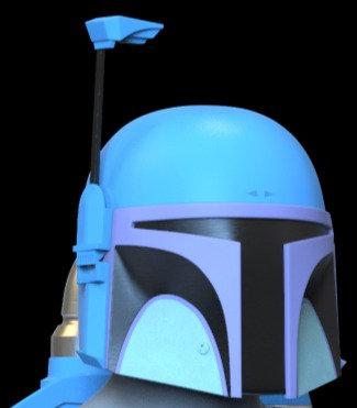 Death Watch Helmet ONLY Mandalorian 3D Model Project #6475-1