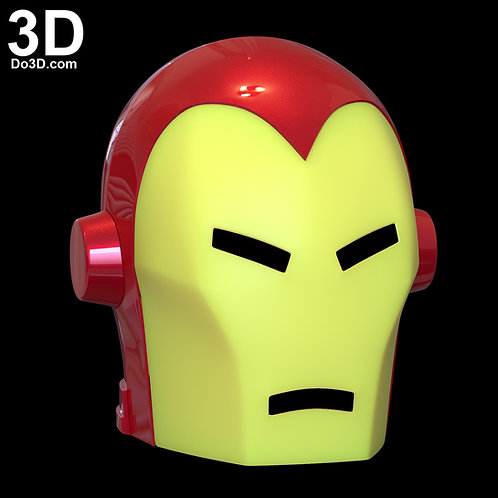 Classic Invincible Iron Man Helmet Comic Style | 3D Model Project #449