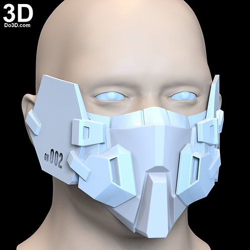 GN-002 Dynames Gundam Style Face Mask Covering | 3D Printable Model #F2