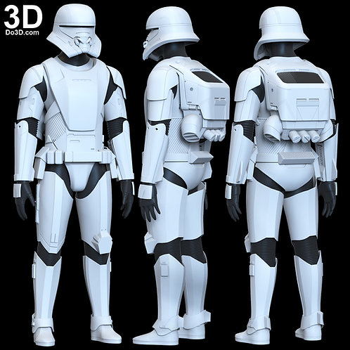 Jet Trooper Armor from Star Wars The Rise of Skywalker 3D Model Project #6186