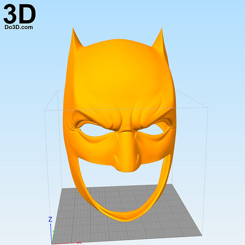 Plain Batman Justice League JL Cowl Helmet | 3D Model Project #2569