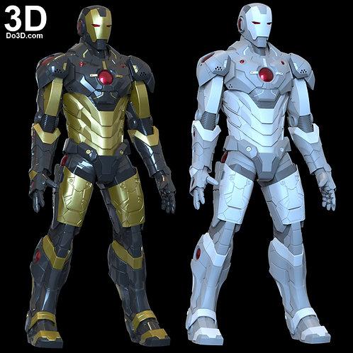 Black x Gold Iron Man Helmet and Armor | 3D Model Project #6239