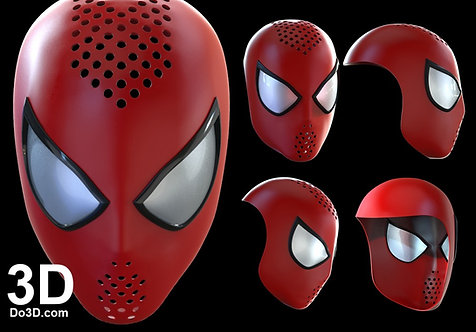 The Amazing Spider-Man 2 Face Shell Helmet TASM2 helmet, 3D Model Project #739