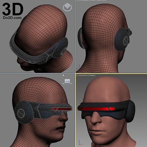 X-Men Cyclops Laser Beam Visor Glasses Comics Version | 3D Model Project #1577