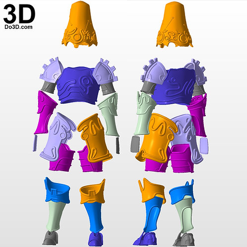 Breath of the Wild Ancient Armor Link's Guardian Set | 3D Model Project #5602