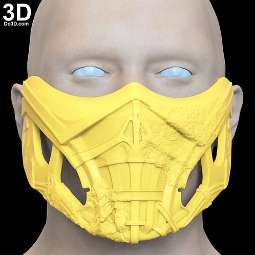 Mortal Kombat 2021 Scorpion Mask 3D Printable Model Print File STL #SC53