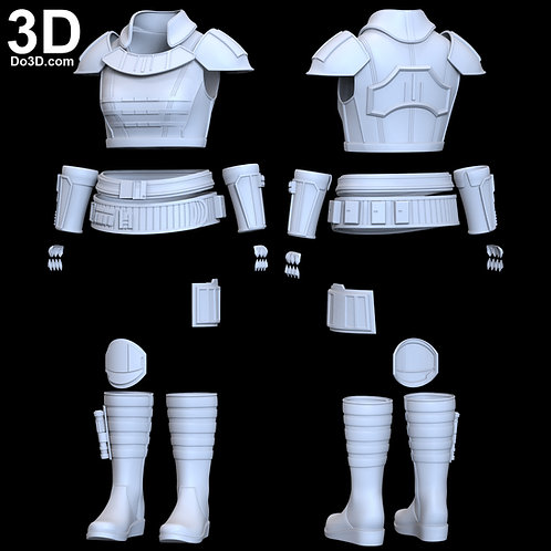 Gina Carano Cara Dune Armor from The Mandalorian | 3D Model Project #6353