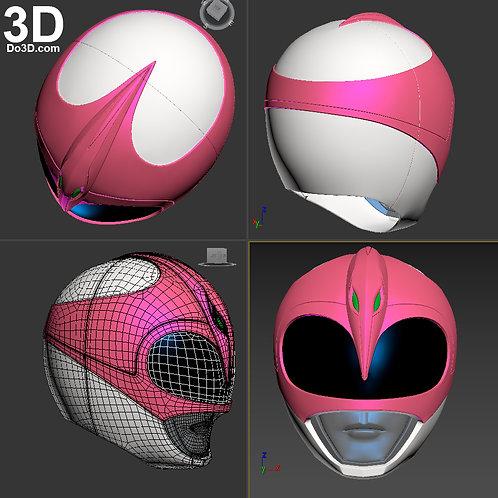 Pink Ranger Helmet Mighty Morphin Power Rangers MMPR   3D Printable Model #1222