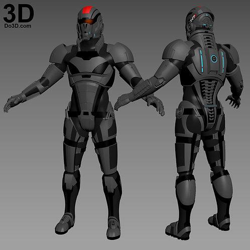 N7 Commander Shepard Armor Mass Effect Andromeda, 3D Model Project #3197