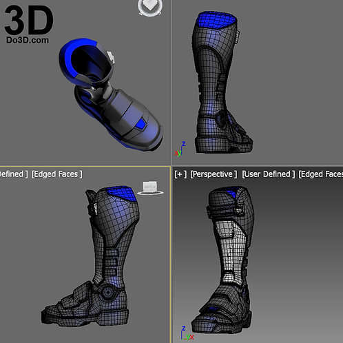 Soldier 76 Overwatch Boots Shin | 3D Model Project #2045