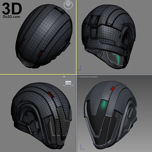 Obsidian Mind Destiny Helmet | 3D Printable Model #1909
