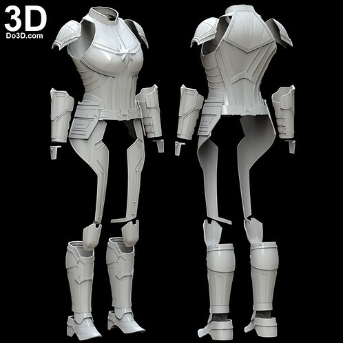 Captain Marvel 2019 Movie Body Armor Suit + Helmet | 3D Model Project #5612