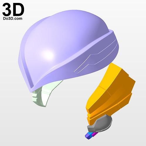 Hoshino Yumemi Helmet Head Piece | 3D Model Project #2975