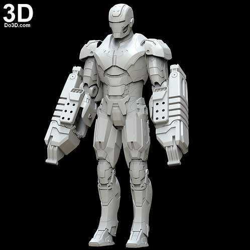 Iron Man Mark XXV Striker Full Body Armor Suit MK 25 | 3D Model Project #5403