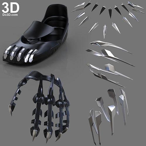 Black Panther 2018 Body Accessory Claws, Necklace, 3D Model Project #4002