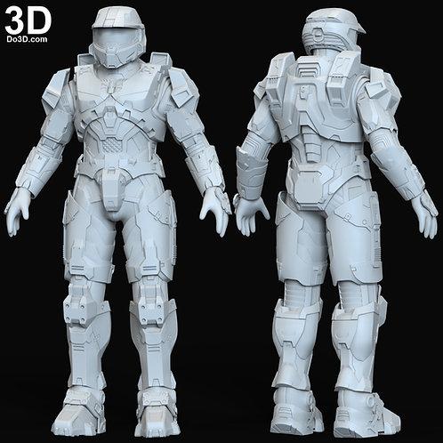 Halo Infinite Master Chief Full Body Armor + Helmet | 3D Model Project #6330