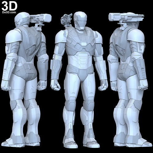 War Machine 006 Armor Mark VI MK 6 Endgame 3D Printable Model #5987