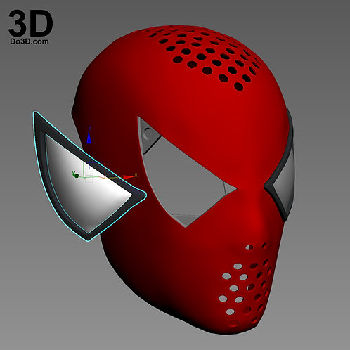 Spider-Man 2002 Raimi Mask Face Shell Helmet | 3D Model Project #4128