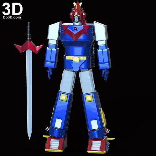 Chodenji Machine Voltes V Helmet, Armor, Sword | 3D Model Project #6011