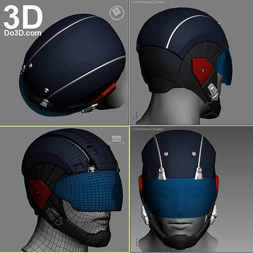 Atom Helmet from The Flash  | 3D Model Project #1051