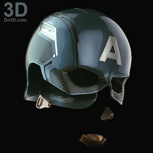 Captain America Helmet from Civil War | 3D Model Project #355