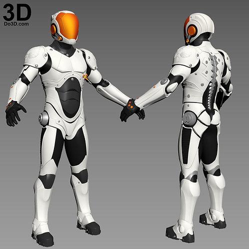 Pacific Rim Jaeger Ranger Pilot Drivesuit and Helmet | 3D Model Project #4117