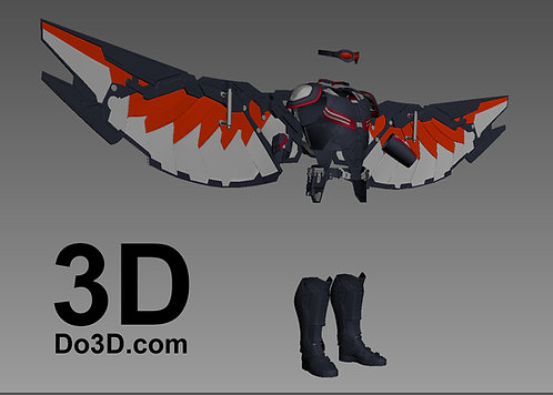 Falcon Wings, EXO-7 Jetpack, Armor | 3D Printable Model Project #441