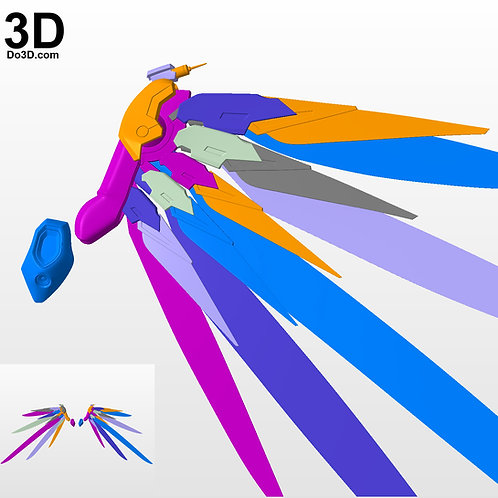 Overwatch Mercy Original Combat Medic Ziegler Wings, 3D Model Project #3373