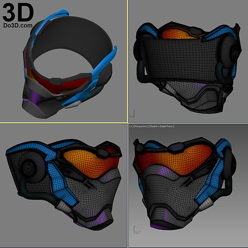 Soldier 76 Mask Helmet Overwatch | 3D Printable Model Project #1248