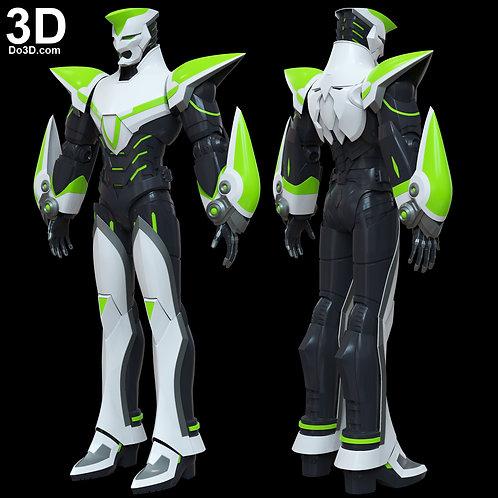 Kotetsu Wild Tiger Helmet and Body Armor | 3D Model Project #4519