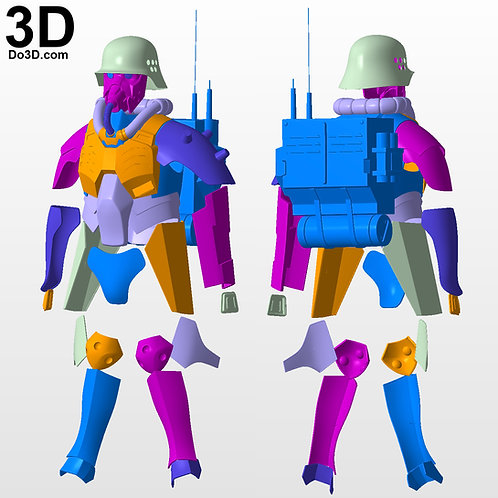 Jin Roh The Wolf Brigade Armor Kerberos Panzer Cop | 3D Model Project #3573