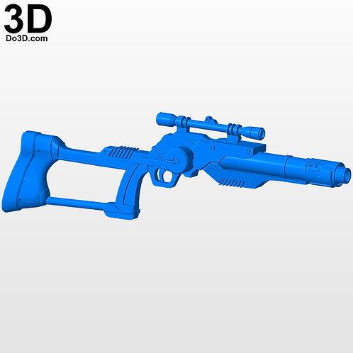 Boba Fett Variant Star Wars Blaster Rifle Gun KAI Arts | 3D Model Project #3822