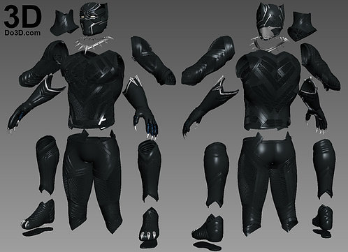 Black Panther Civil War Armor | 3D Printable Model Project #961