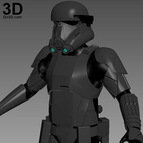 Imperial Death Trooper Armor Star Wars | 3D Printable Model #1198