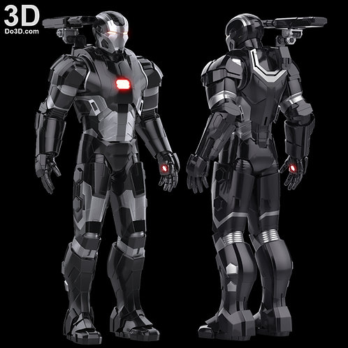 Iron Man Mark II Armor War Machine  MK 2 | 3D Model Project #792