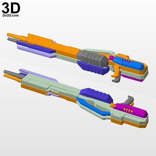XXXG-00W0 Wing Gundam Zero Twin Buster Rifle, Blaster | 3D Model Project #4711