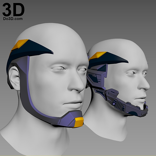 Superman Injustice 2 Helmet Crown Head Piece Set | 3D Model Project #2647