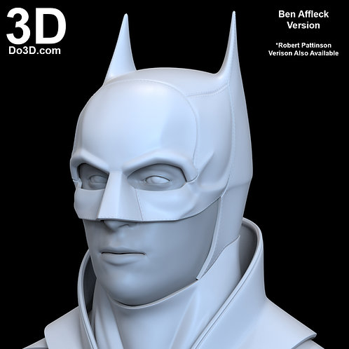 3D Printable Model: Batman 2021 Cowl / Helmet | Print File Format STL #B40