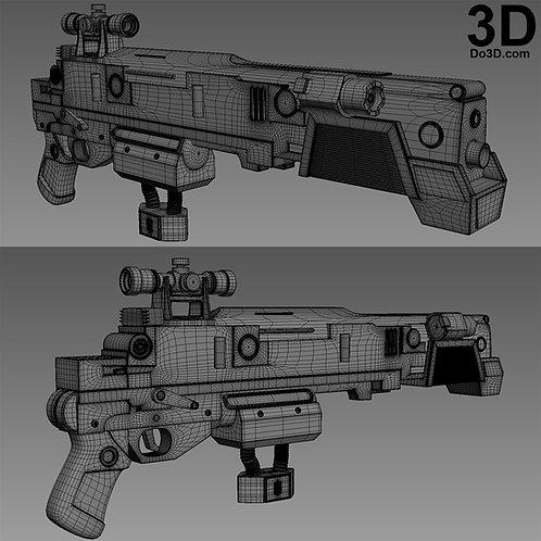 Baze Malbus Blaster Rifle Star Wars | 3D Printable Model Project #1827