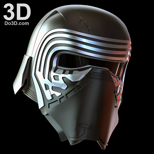 Kylo Ren Helmet from Star Wars VII: The Force Awakens | 3D Model Project #318