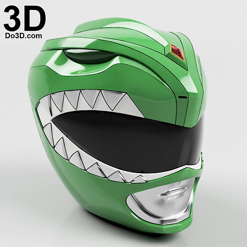 Green Ranger Classic Helmet Mighty Morphin Power Rangers MMPR, 3D Project #527