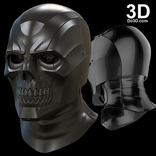 Black Mask Arkham Knight Helmet | 3D Model Project #1569
