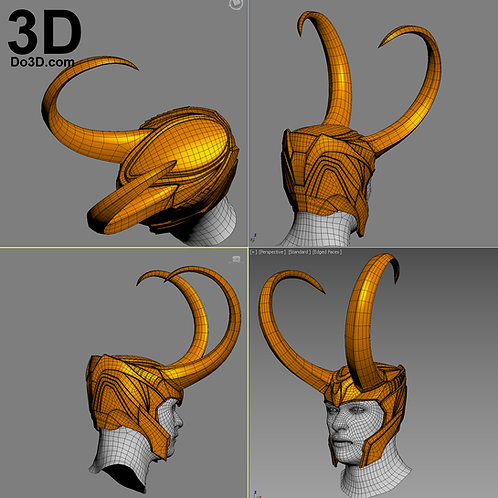 Loki Old Classic Helmet | 3D Model Project #2441