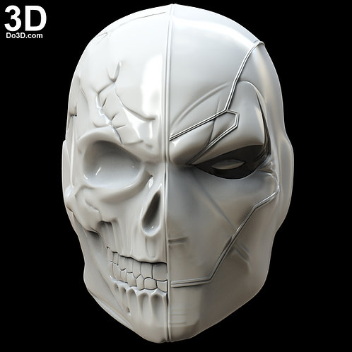 DeathStroke Half Skull Face Helmet | 3D Model Project #5320