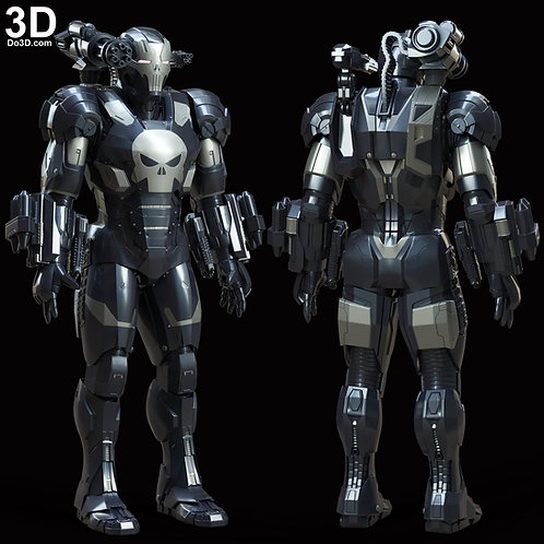 The Punisher War Machine Armor Suit | 3D Model Project #6000