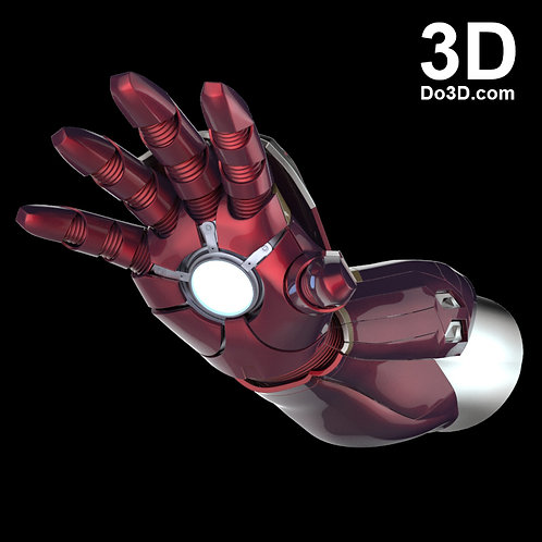 Iron Man Mark XLVI MK 46 Gauntlet  | 3D Model Project #433